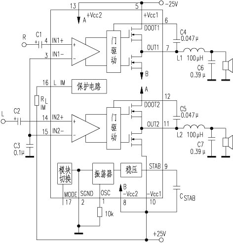 它的主要技术指标:电源±10v~±40v,典型工作电压为±25v;静态电流约