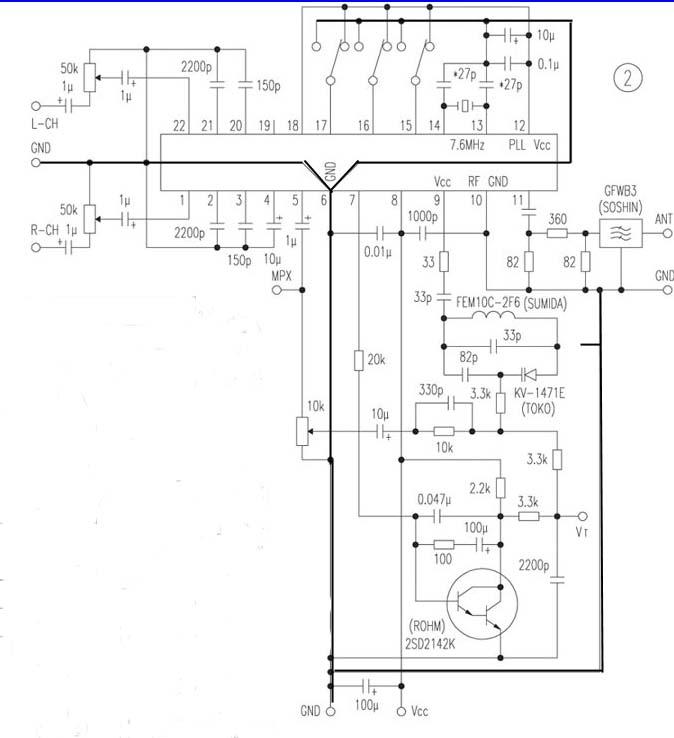 小调频发射器电路 回复